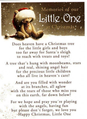 ... and Dad's I know this year who have lost children. Christmas in Heaven