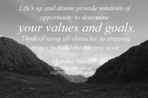 Value ang goals quotes – Lifes up and downs provide windows of ...