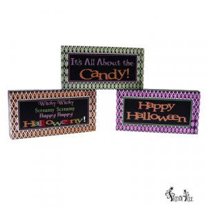 halloween blocks with quotes set of 3 set of 3