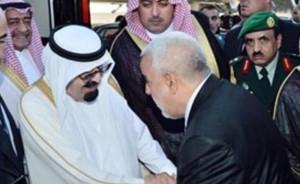 King Abdullah of Saudi Arabia was greeted at Casablanca airport by