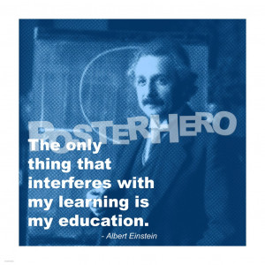 Einstein Education Quote art print