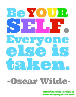 Oscar Wilde Quote FREE Printable and Art Display Yardstick http ...