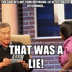 Maury Lie Detector - You said he's not your boyfriend. Lie detector ...