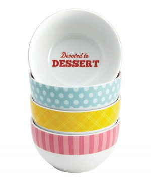 This Classic Quotes Ice Cream Bowl Set by Cake Boss is perfect! # ...