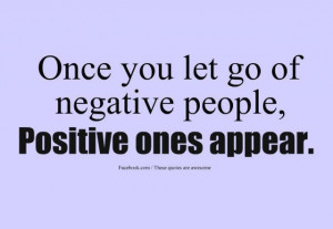 negative people--let go of negative people, they're a drag.preview