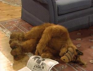 Alf Faints When Reads...