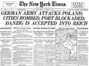 Germany attacks poland NYT 1939