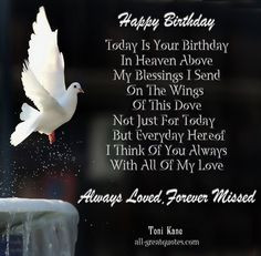 Your Birthday in Heaven | Happy Birthday .. Today Is Your Birthday, In ...