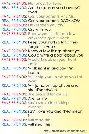 Fake Friends Vs Real Friends by rocylier04