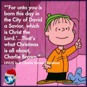 The true meaning of Christmas according to Linus