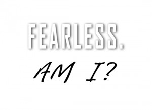 Fear consumes our energy. Fear leaves us empty. Fear makes us ...