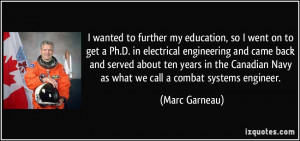 to further my education, so I went on to get a Ph.D. in electrical ...