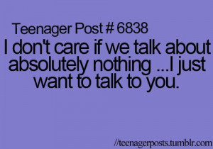Yeahh, why wont you talk to me? :/