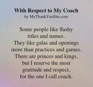 Coach - A Thank You Poem to Coach: Coach Quotes, Cheer Coaches, Thank ...