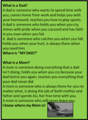 Deadbeat dad- Yes I will be mom & dad!Dead Beat Dad Quotes, Sadness ...