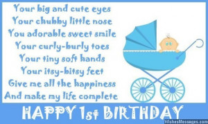 1st Birthday Poems: Happy First Birthday Poems