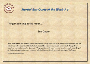 Bruce Lee: Zen quote Finger pointing to the moon