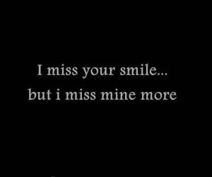love, miss, quote, smile
