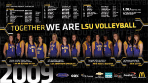Volleyball Posters 2009 lsu volleyball poster