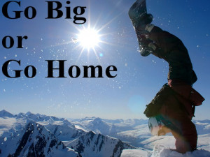 Snowboarding handstand Image