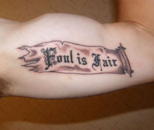 Cool Quote Tattoo