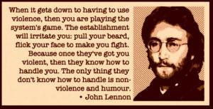 John Lennon quote on non-violence.