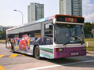 Cars 2: The Movie Bus by tintinspartan