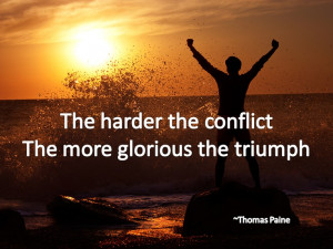Recovery quote about triumph in the face of adversity. Get more ...