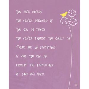 Positive inspirational purple art print , Motivational quote room ...