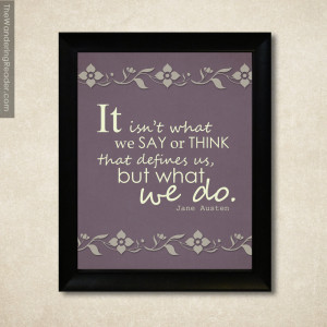 "Jane Austen Quote Print with Sense and Sensibility Quote ""It isn't ..."