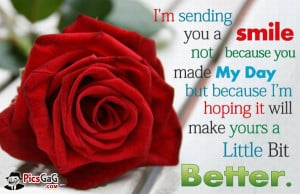 am Sending You Smile Quote Picture and Smile Message For Happy Day.