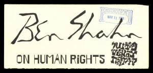 Ben Shahn on Human Rights