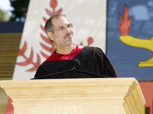 Steve Jobs delivers his commencement speech to the Stanford graduating ...