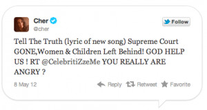 Cher Goes on Twitter Rant Against Romney & His 'Racist Homophobic ...