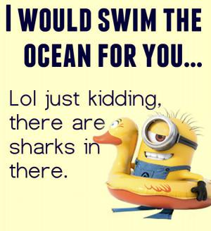 Swim .Never!! | My minions | Pinterest