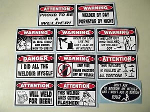 Funny 11 PC Welder Sticker Collection Tool Box Welding Metal MIG TIG ...