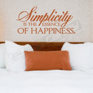 Simplicity is the...Family Wall Quotes Words Sayings Lettering