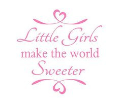 from etsy little girls make the world sweeter wall decal sisters play ...