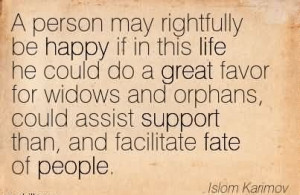 ... Widows And Orphans, Could Assist Support Than, And Facilitate Fate Of