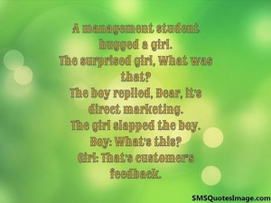 management student hugged a girl...