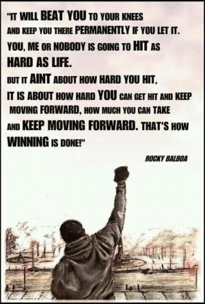 It ain't about how hard you hit :-)