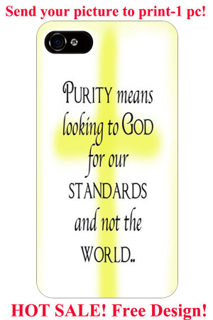 purity means looking to god for our standards yellow cross christian ...