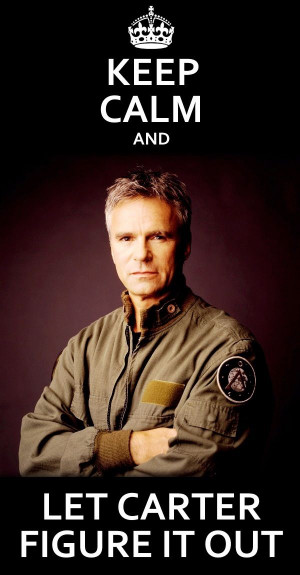 ... know Carter will. Stargate SG-1- Oh How I LOVE LOVE Col. Jack O'Neill