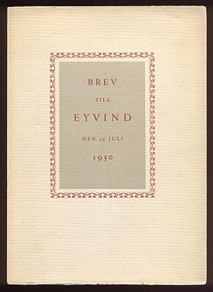 johnson eyvind martinson harry m fl brev till eyvind den