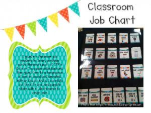 Preschool Classroom Job Chart Printables