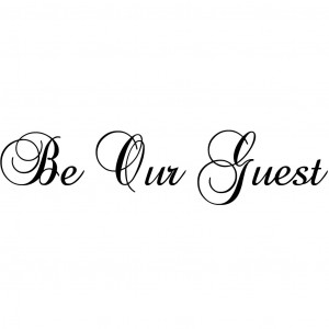 """... the first to review """"Be Our Guest Quote Wall Sticker"""" Cancel reply"""