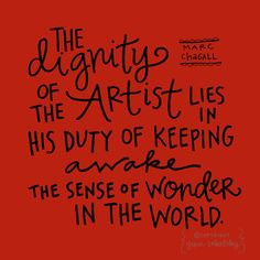 Marc Chagall art quote More