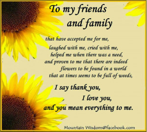 Thank you - To my friends and family.