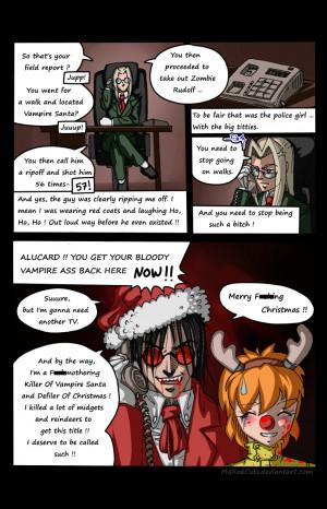Hellsing Ultimate - Alucard Walk - Happy Christmas by MaXedCats