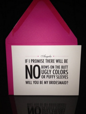 "puzzle card that pops the question, ""Will You Be My Bridesmaid ..."